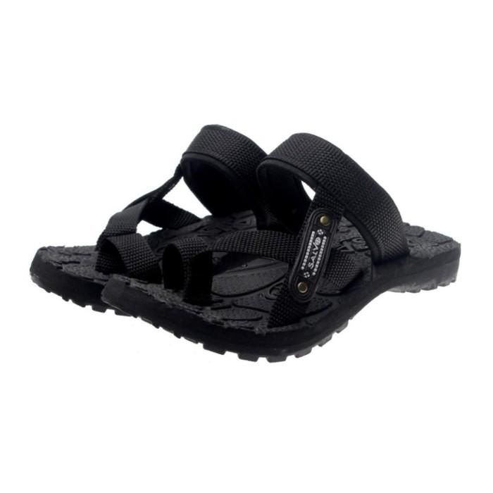 Salvo sepatu sneaker A02 hitam/merah free sandal SG01 H