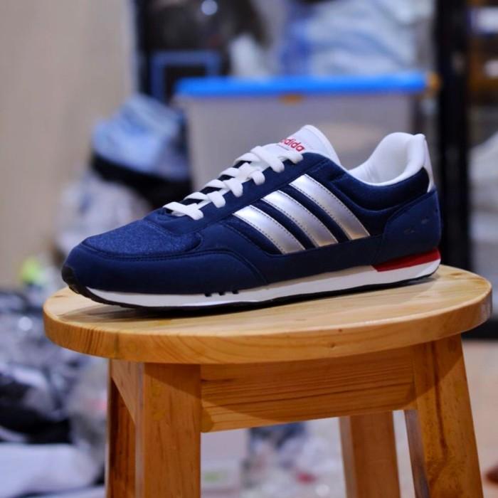 7f179a11cc3 Jual Sepatu Adidas ORIGINAL Neo City Racer Navy pria cowok men ...