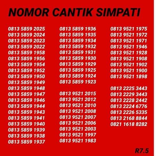 Telkomsel Simpati Nomor Cantik 0812 8888 2293 Cek Harga Source · Kartu Perdana Simpati Nomor Cantik
