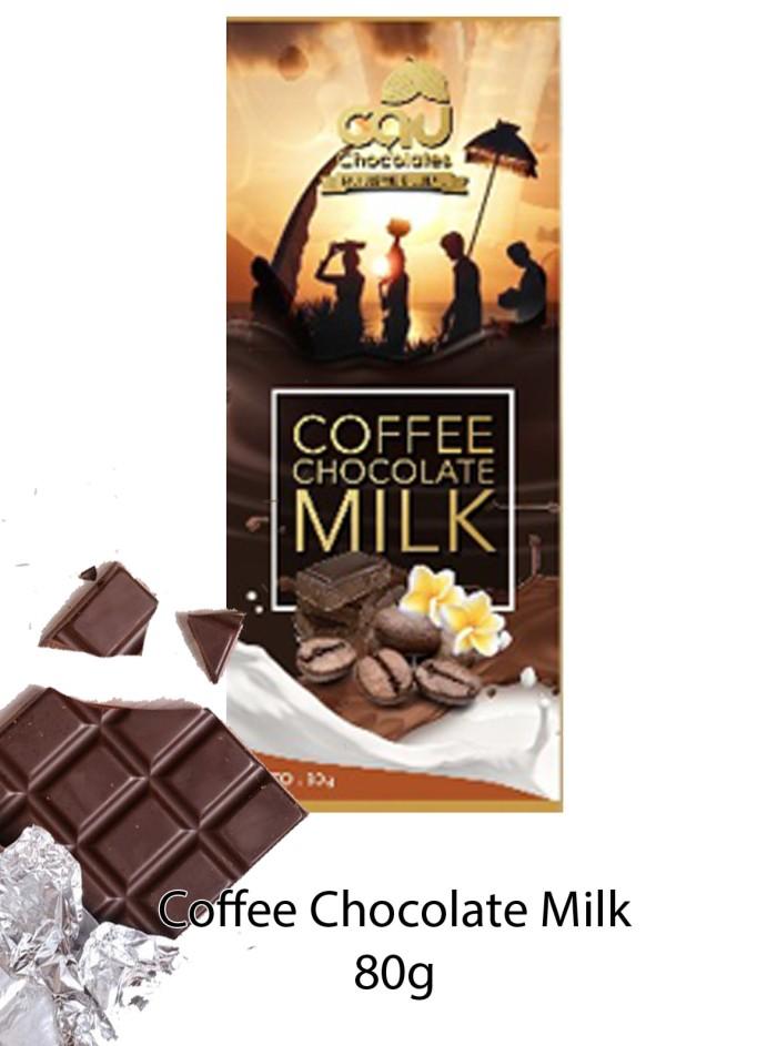 Coffee Chocolate Milk (Gold Series) 80 gr -Cau Chocolates
