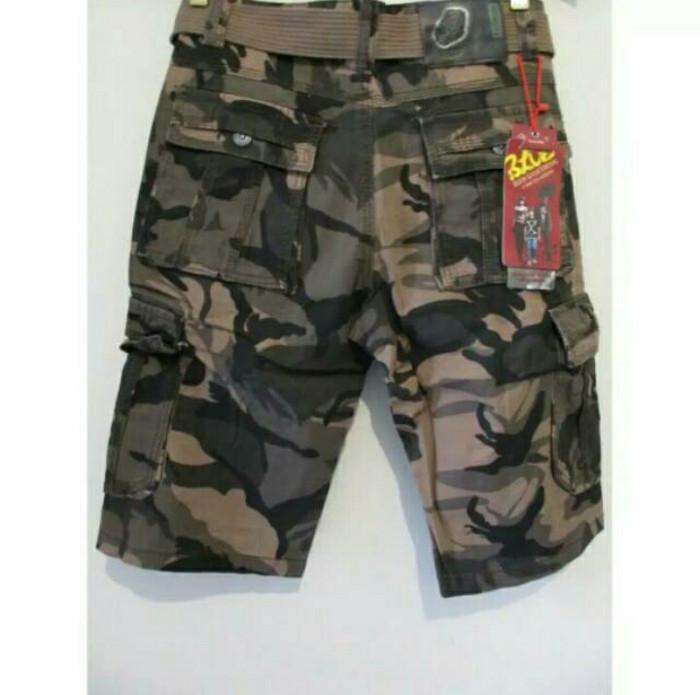 Celana cargo elite army pendek brown