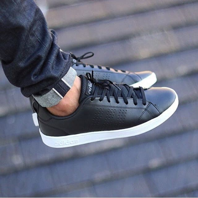 sepatu adidas neo advantage black white