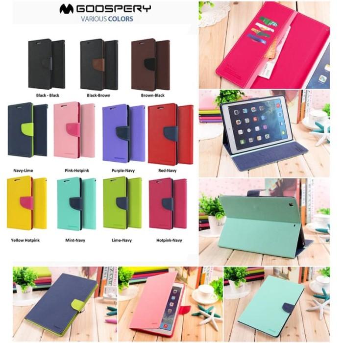 goospery ipad pro 9.7 fancy diary case - hotpink-navy