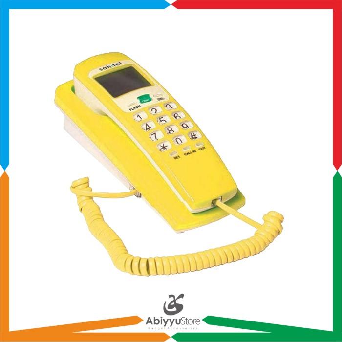 harga Telepon rumah kantor dinding sahitel s37 kabel single line - yellow Tokopedia.com