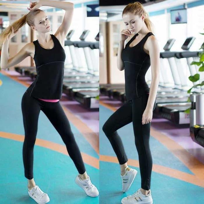harga Baju training olahraga gym wanita quick dry black / hitam size l Tokopedia.com