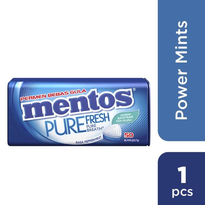 MENTOS Suzuya id Source · Mentos Pure Fresh Sugar Free Peppermint Tin 35gr