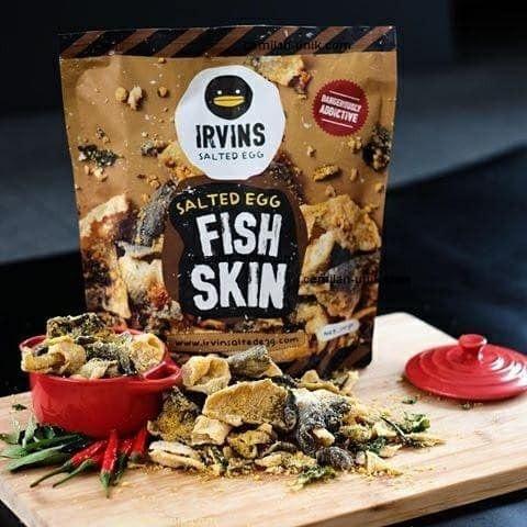 Foto Produk Irvin Fish Skin dan Irvin Potato Chips Salted Egg 110 gram dari Preloved Yenny Susanto