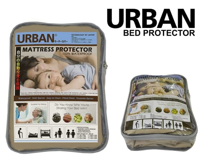 Foto Produk URBAN Bed Protector Mattress Single Sprei Waterproof Anti Air 100x200 dari lbagstore