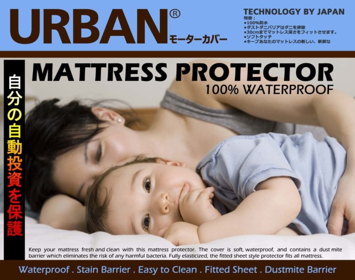 Foto Produk URBAN Bed Protector Matras Seprai Single Size Sprei Waterproof 90x200 dari lbagstore