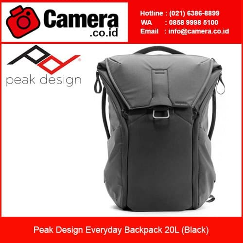 harga Peak design everyday backpack 20l - black/ tas kamera Tokopedia.com