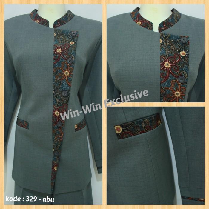 Jual Setelan Blazer Baju Kerja Kantor Wanita Abu Abu (Rok atau ... 9df3154ac5