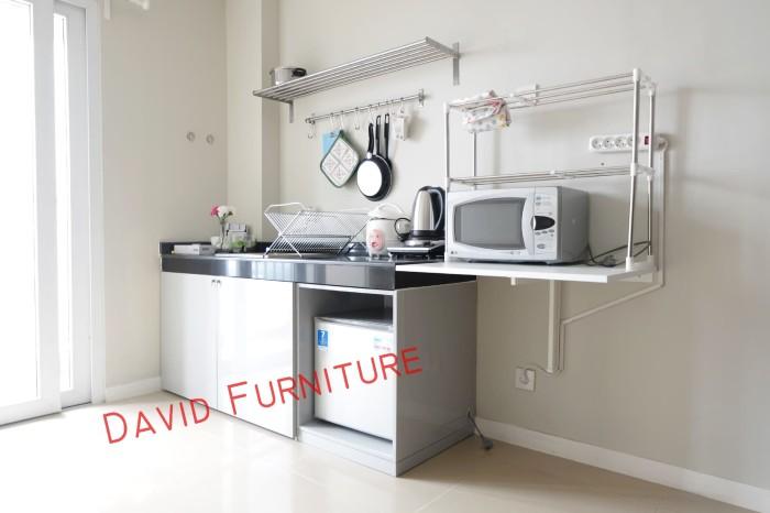 Jual Pintu Kitchen Set Meja Besi Siku Warna Abu Abu Kabinet Kulkas