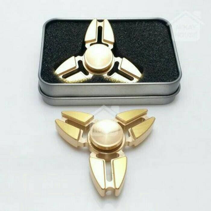 harga Premium tri fidget metal brass hand spinner toys Tokopedia.com