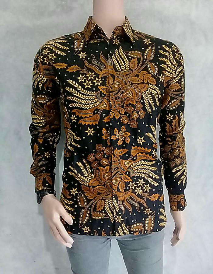 Jual baju batik pria lengan panjang motif manggar - tokobatikbarokah ... 36009769f3