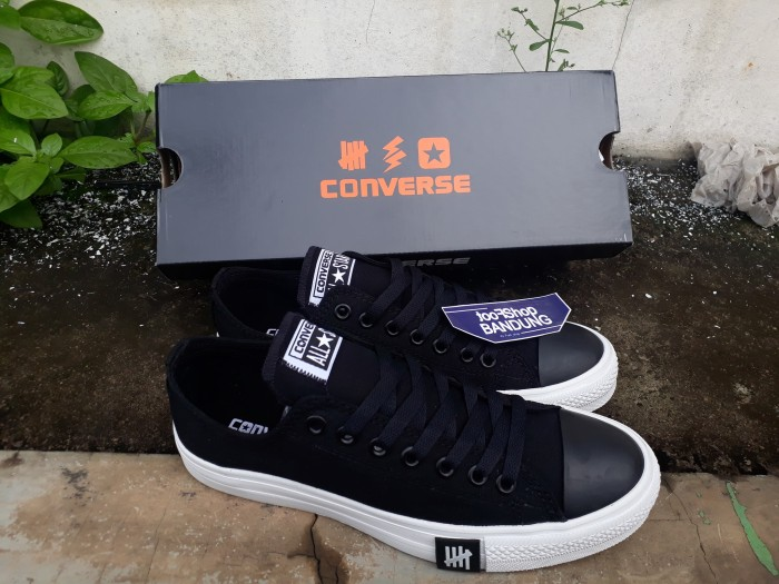8650a62bb3e6 Jual Converse All Star CT OX Undefeated Black White Low Premium BNIB ...