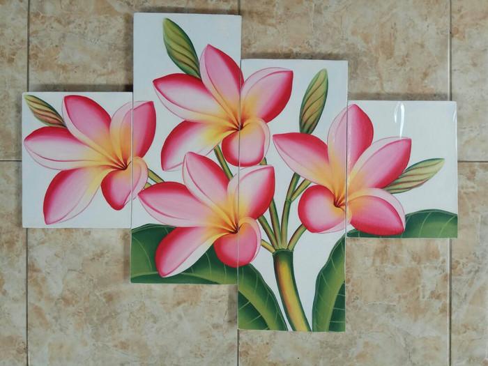 harga Lukisan bunga kamboja merah minimalis Tokopedia.com