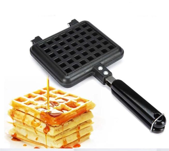 harga Kitchen house cetakan waffle single maker manual waffle belgia pancake Tokopedia.com