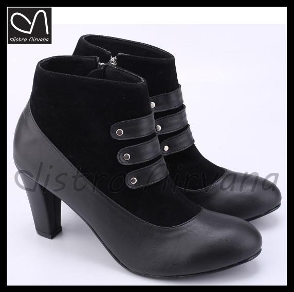harga Sepatu wanita high heels boots casual hangout main distro boot cewek Tokopedia.com