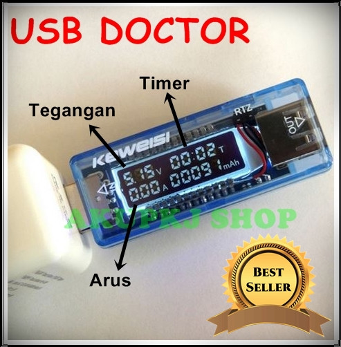 harga Usb tester meter multimeter charger doctor 4 in 1 ampere volt watt .