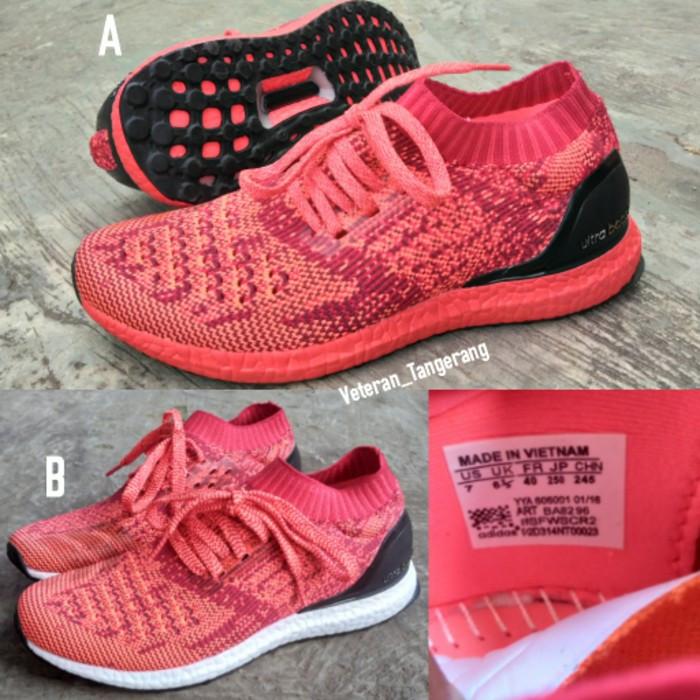 8132112c72d92 ... authentic harga sepatu running adidas ultra boost uncaged m black red  orange premium tokopedia c4866 b35f7