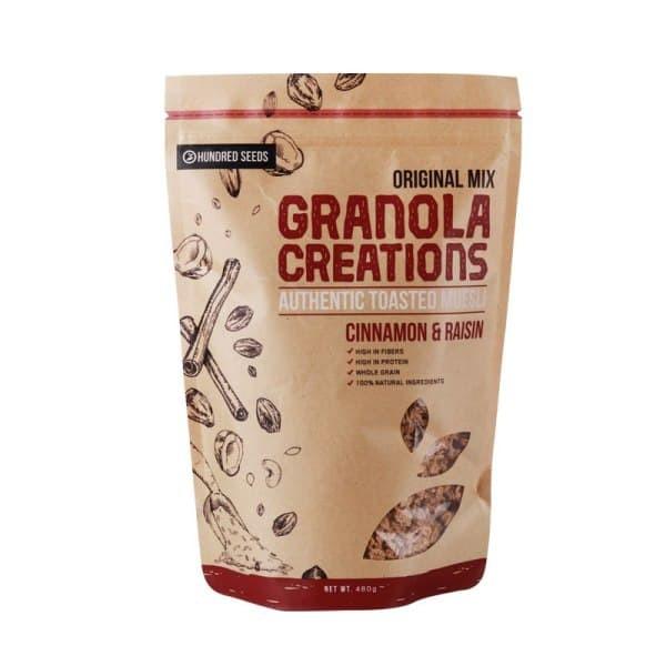 harga granola creation cinnamon raisin original mix - sarapan sehat 480 gr Tokopedia.com