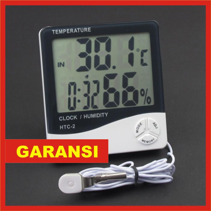 harga Temperature / temperatur digital & hygrometer / humidity meter htc-2 Tokopedia.com