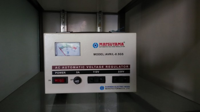 harga Matsuyama stabilizer 500 va / avr / stavol / murah / listrik Tokopedia.com