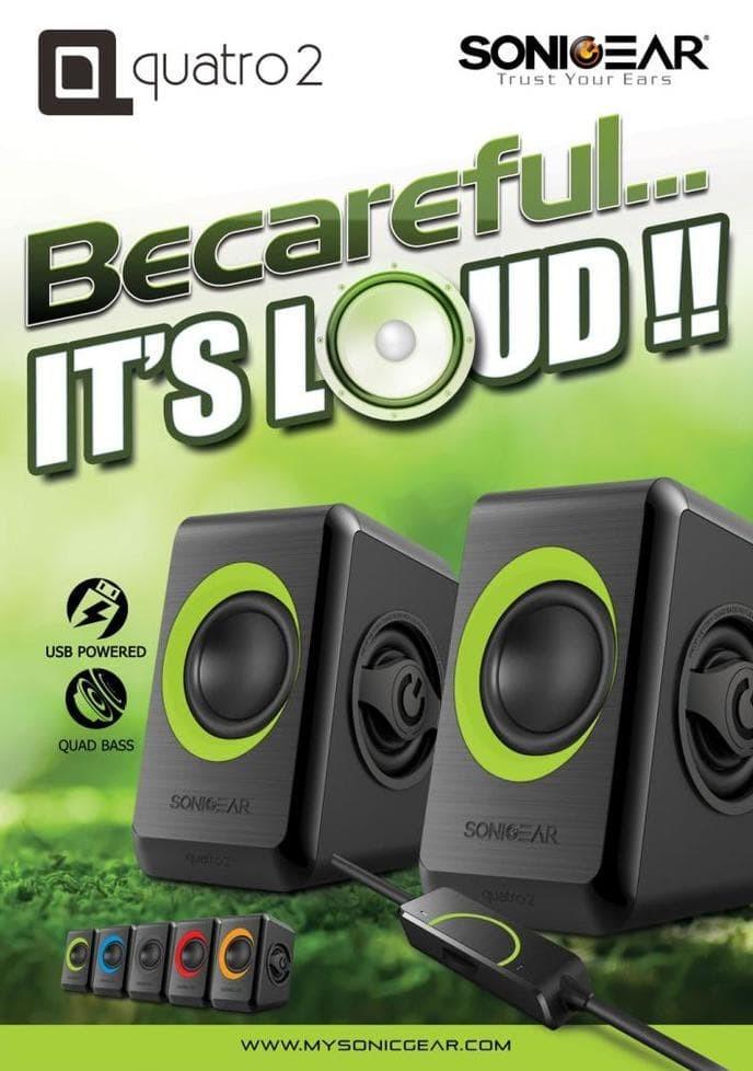Jual Sonic Gear Speaker Usb 2.0 Quatro 2 Berkwalitas