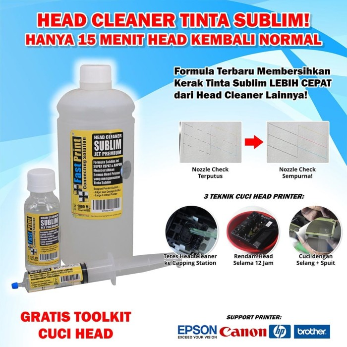 harga Head cleaner sublim jet premium fast print 20 ml Tokopedia.com
