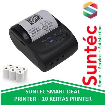harga Suntec deal zjiang mini bluetooth printer + 10 kertas thermal pos Tokopedia.com
