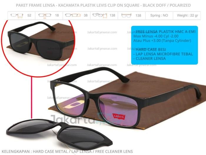 Jual Paket Frame Lensa - Sale Kacamata Plastik Levis Clip On Square ... 3555bb6cc6