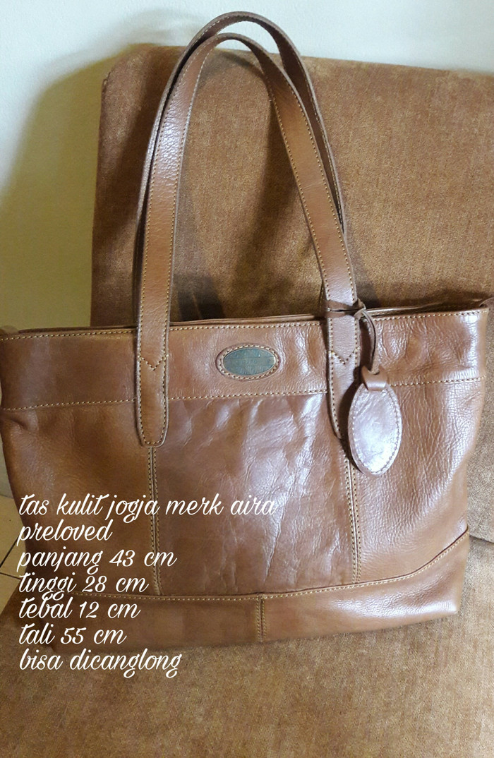 Jual tas kulit jogja merk aira preloved tote bag - tas siabu  7c7684198f