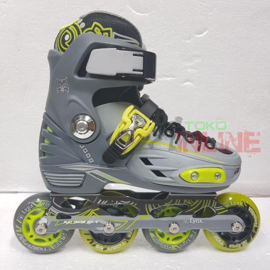 harga Sepatu roda lynx bm137 recreational inline skate - grey/green Tokopedia.com