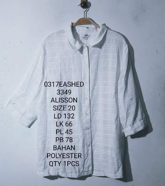 kemeja putih baju bigsize jumbo xxxl branded alison