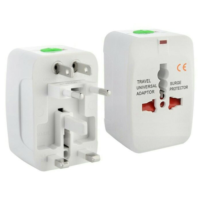 Steker Kaki 3 Colokan Listrik Stecker Universal Travel Adapter Adaptor