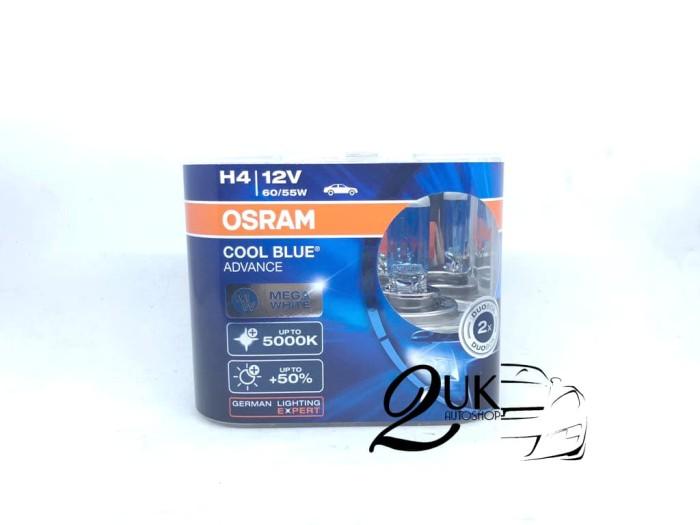 Foto Produk Lampu Bohlam Mobil OSRAM COOLBLUE / COOL BLUE ADVANCE / CBA H4 dari 2UK Autoshop