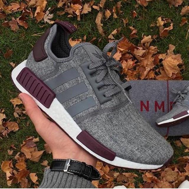 5d8dcdb24 Jual sepatu adidas nmd r1 grey wool maroon - toko branded ori ...