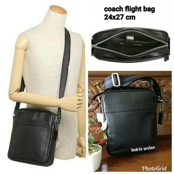 Jual tas selempang coach pria original murah flight bag hitam ... 3cbf42b3ec