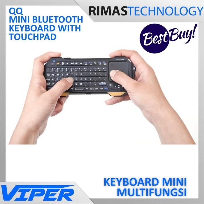 Jual Qq Multifunction Mini Bluetooth Keyboard With Touchpad Mouse Functio Jakarta Barat Dreambigger Tokopedia