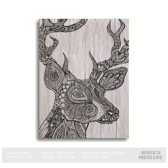 harga Pajangan dinding poster kayu solid rusticc artistic18 deer tattoo side Tokopedia.com