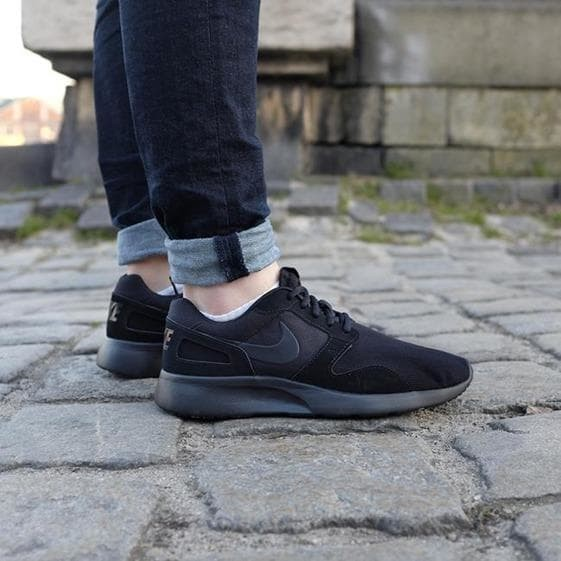 new style cdf96 0652d Nike Kaishi Run Full Black Swoosh Dark Grey BNWB
