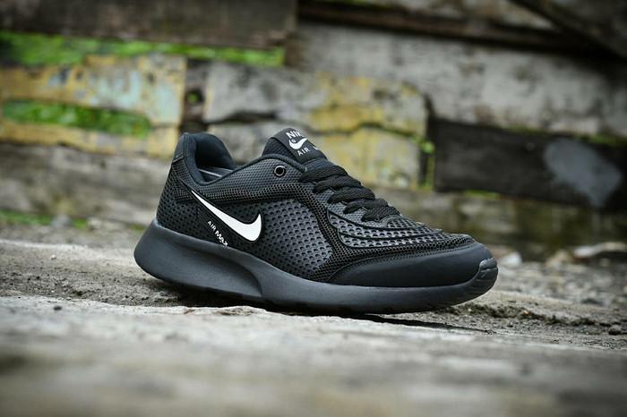 Jual Sepatu Nike Airmax Running Men Full Hitam Sport Running Sekolah ... 3959baa8cb