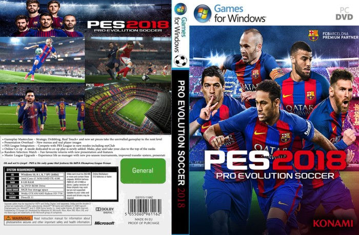 harga Pes 2018 plus patch 3.0 aio pc laptop Tokopedia.com