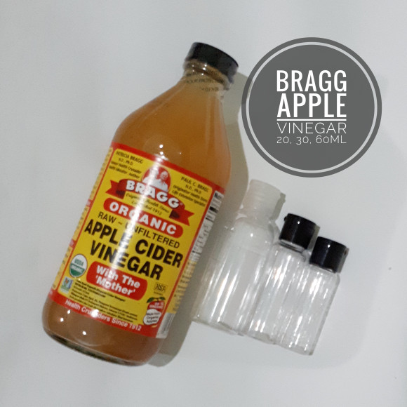 harga (share 60ml) bragg apple cider vinegar / cuka apel pure Tokopedia.com
