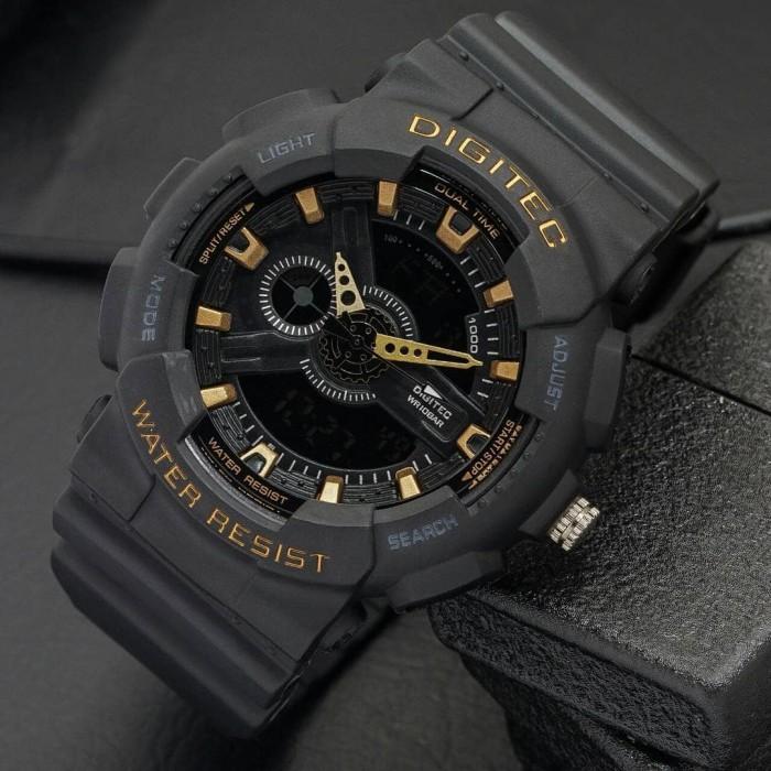 Jam Tangan Digitec DG-2020T Black Gold Original