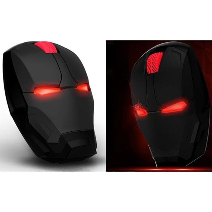Dijual Taffware Wireless Iron Man Style Optical Mouse Silent Click