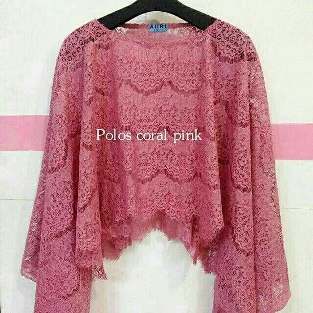 harga Atasan kebaya brokat cape polos coral pink new Tokopedia.com