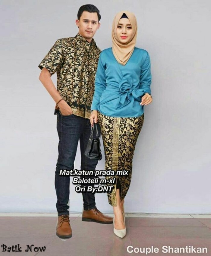 Jual Model Baju Batik Couple Shantikan Keluaran Terbaru Asli