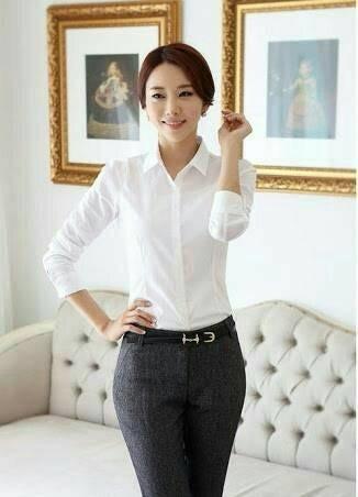 Jual Model Kemeja Terbaru Kemeja Putih Lengan Panjang Wanita Khusus