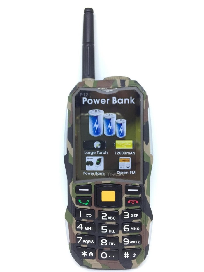 harga Handphone / hp maxtron p12 / c15 army [gsm-gsm / powerbank 12.000 mah] Tokopedia.com